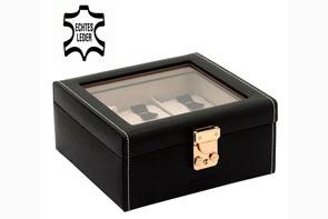 Pudełko skórzane na 6 zegarków Altrosa z przeszkleniem